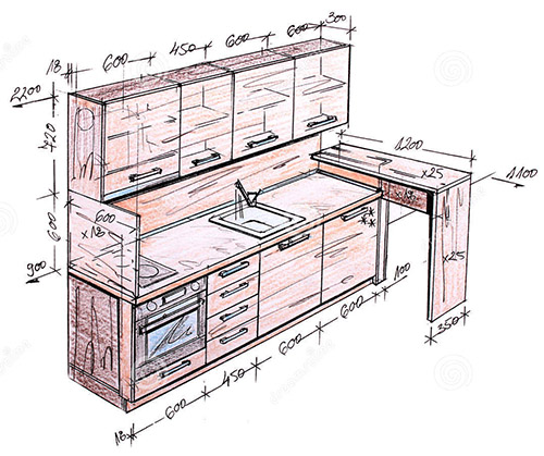 design-kitchen-drawing