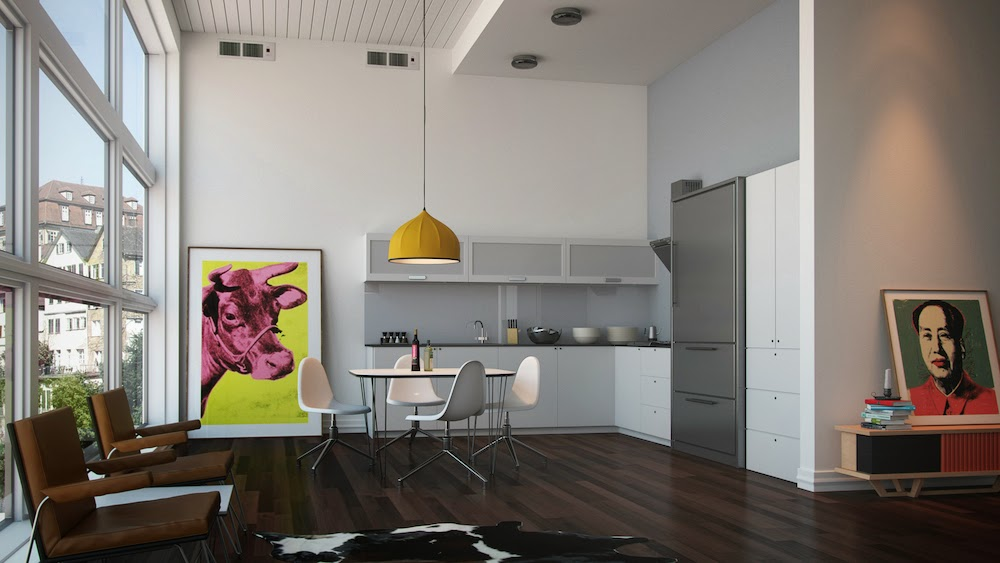 Μια κουζίνα που σχεδιάστηκε ώστε να είναι αόρατη και να δίνει ακόμα περισσότερη έμφαση στο λευκό χρώμα που επιλέχθηκε ως πρωταγωνιστής.